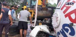 Jalandhar Nakodar Road car-oil tanker collision,2 killed