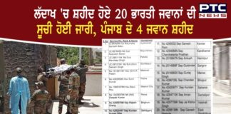 India-China clash : List of 20 Indian jawans martyred in Ladakh
