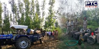 Punjab Ropar Police seize 7 Illicit liquor Bhattis and Lahan From Himachal Villages