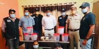 Two wanted rewarded criminals and an associate arrested with weapons in Haryana