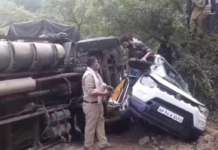 Accident in Himachal, Two vehicle collided in NH