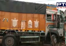 High speed truck meet with accident   Driver Trapped after Accident