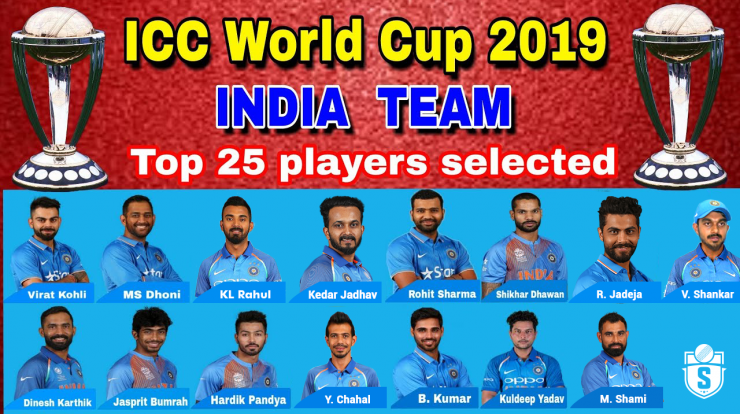 ICC World Cup 2019 Indian Team