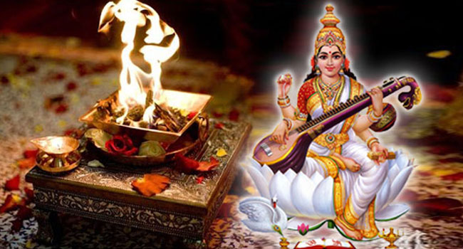 Medha Saraswathi Homa may be performed before Aksharabhyasam, joining school
