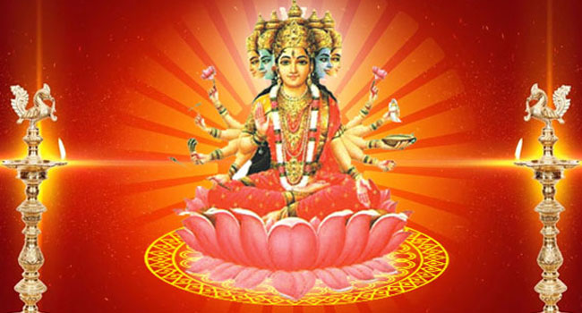 Pranava Mantra is said to give different benefits, when Gayatri homam is performed with different Ahutis (materials).