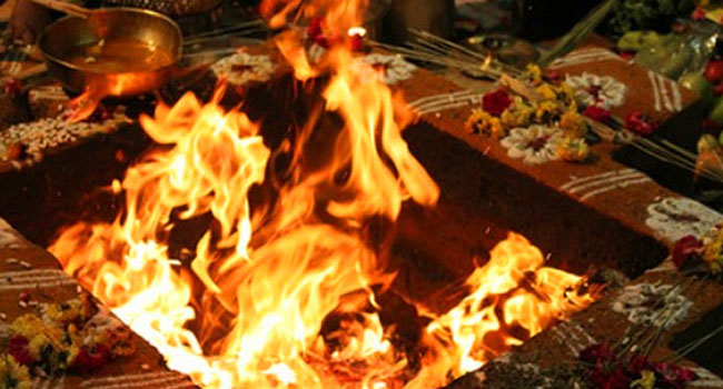 Ganesha Homa is performed before the beginning of any new business, work or venture