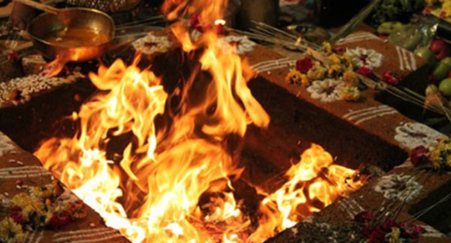Saptaha Maha Mrithyunjaya homa for overcoming ill-health