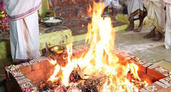 Eleven forms of Rudra are invoked and worshipped through Yekadasha Rudra Homa