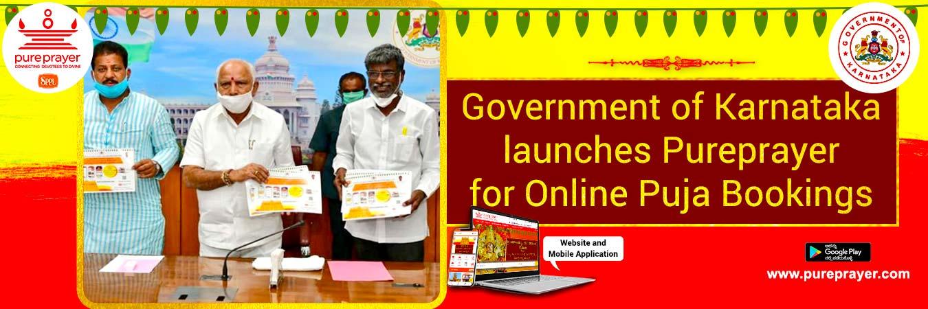Muzrai, Pureprayer, online Puja booking, yediyurappa, CM, Ekanike, puja