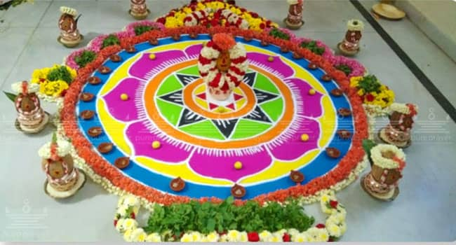Surya Kalady Maha Ganapati Homa, invoking Lord Surya with Maha Ganapati with ten hands