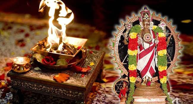 Sudarshana Raksha Homa is performed under the supervision of Vedic pandits