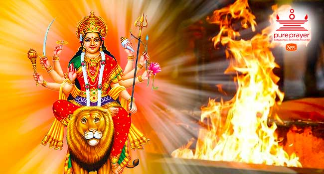 Chandika homa is performed to alleviate all kinds of difficulties and problems in life