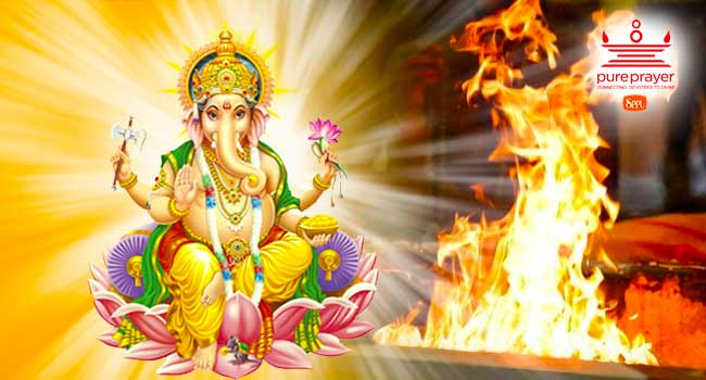 Performing Ganapati Homa ensures your success and well-being