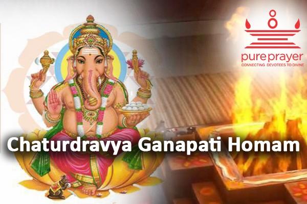 Book and perform Chaturdravya Ganapati Homa with best Vedic Pandits and Purohits from PurePrayer.