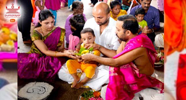 Aksharabhyasam or Vidyarambh