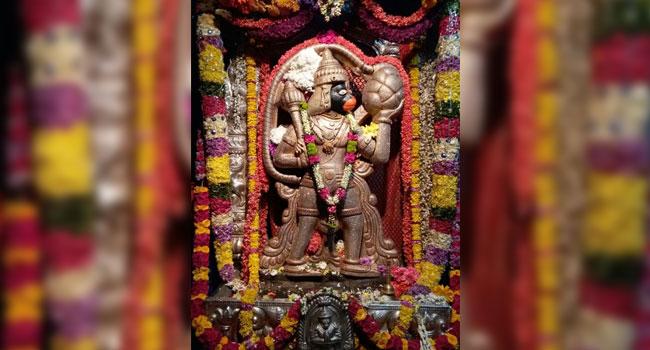 Sri Anjaneya Swamy Temple is located in Dodda Banasawadi, Bangalore