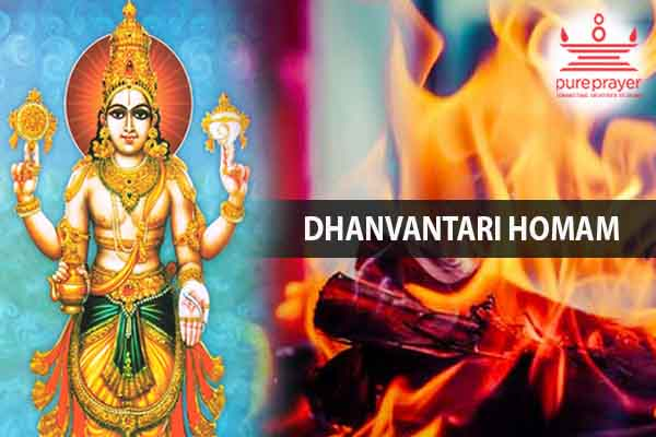 Book and perform Dhanvantari homa with PurePrayer