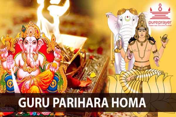 Book & Perform Guru Parihara Homam with PurePrayer to remove negative effects of Guru Graha