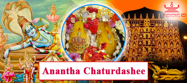 Book the best and experienced Vedic Pandits from PurePrayer to perform Anantha Chaturdashee Puja