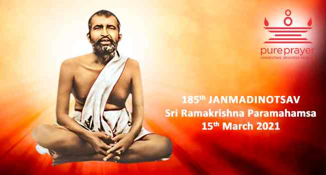 Pureprayer offers tributes to Sri Ramakrishna Paramahamsa, the famous ascetic of Dakshineshwar during the 185th Janmadinotsav in March 2021