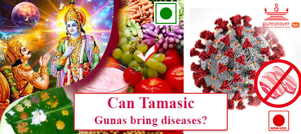 Sattvic food promotes longevity, virtue, strength, health, happiness and joy against Tamasic Gunas