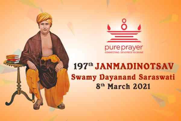 PurePrayer offers Bhakti Namans to Swamy Dayanand Saraswati the founder of Arya Samaj on this great occasion of his 197th Janmadinotsav