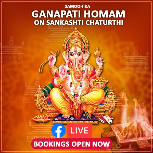 Book and participate in Ganapati Homam being organized by PurePrayer and performed in Udupi Sri Kshetra of Karnataka, on October 24 2021