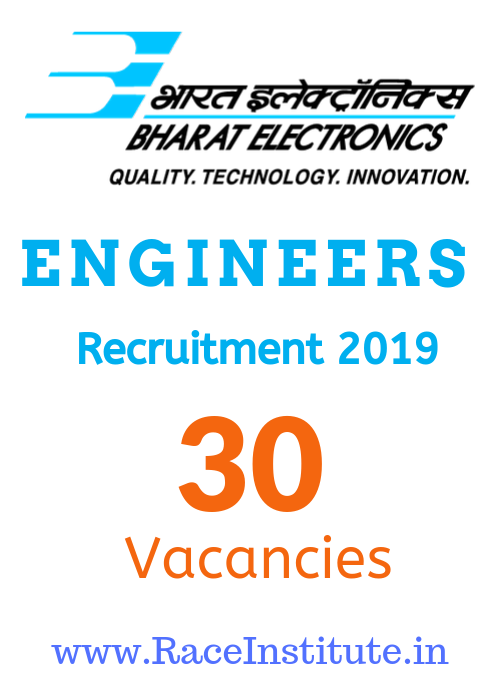 Bharat Electronics Limited Engineers Recruitment 2019