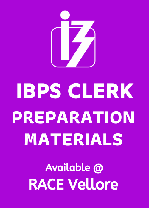 Get IBPS Clerk Free Study Materials @ RACE Vellore