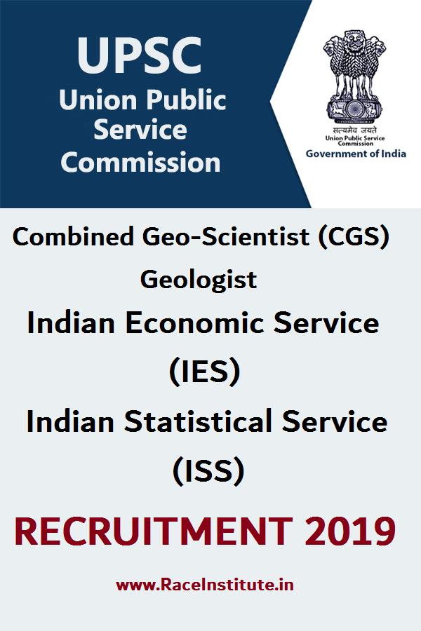 UPSC CGS IES ISS RECRUITMENT 2019 - RACE INSTITUTE