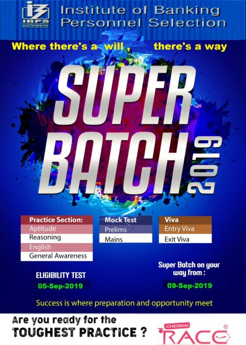 Super Batch Practice for IBPS PO 2019 – RACE Institute
