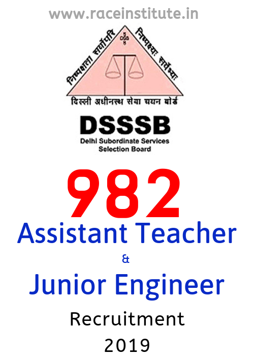 Delhi Subordinate DSSSB Asst Teacher & Jr Engineer Jobs 2019