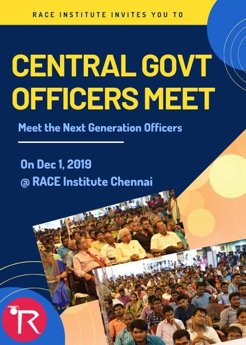 Central Govt Officers meet - RACE SSC Success Meet in Chennai-min