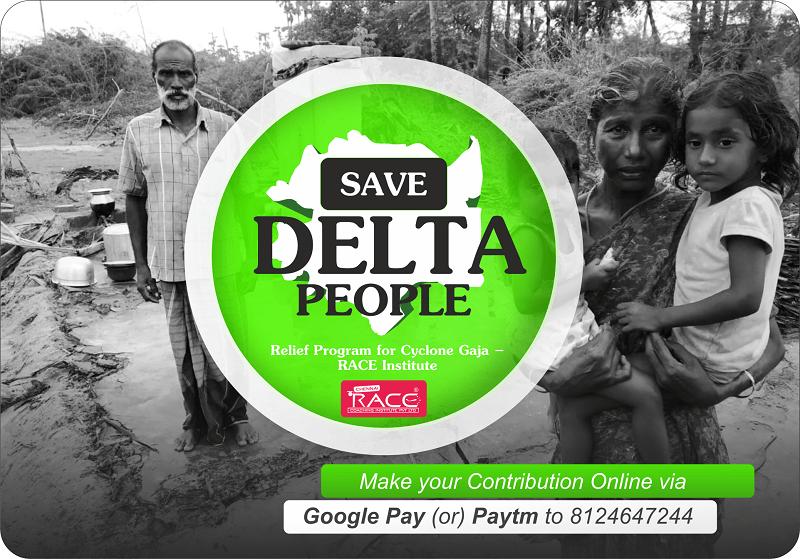 Relief Program for Cyclone Gaja – RACE Institute- save delta