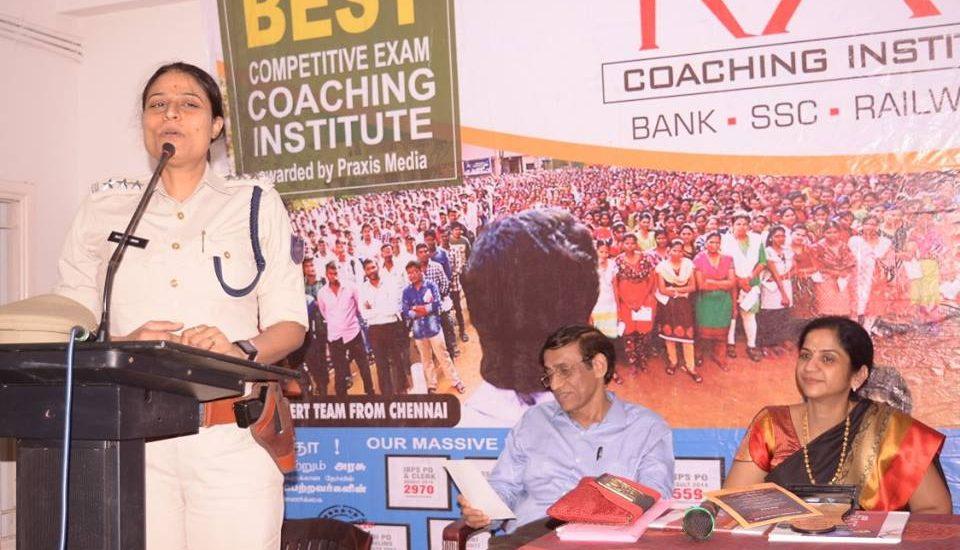 Chennai RACE Institute - TNPSC Awareness program by Ms. Rachna Singh IPS