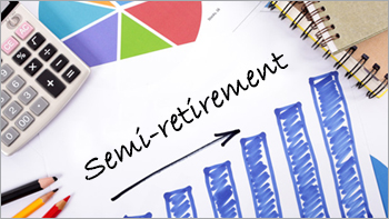 What is semi-retirement and why is it a growing trend?