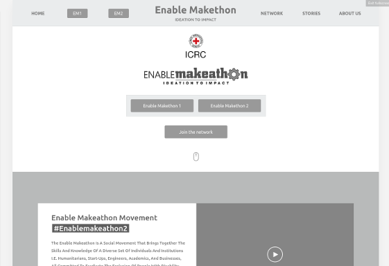 Enablemakeathon Wireframe