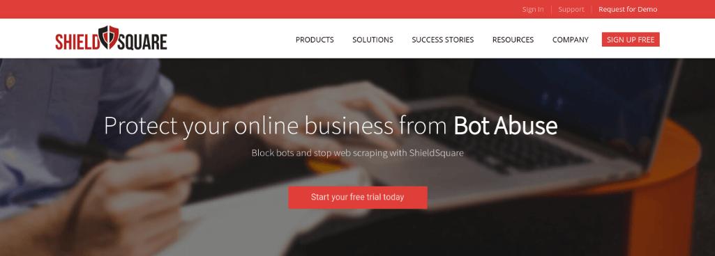 ShieldSquare Home Page