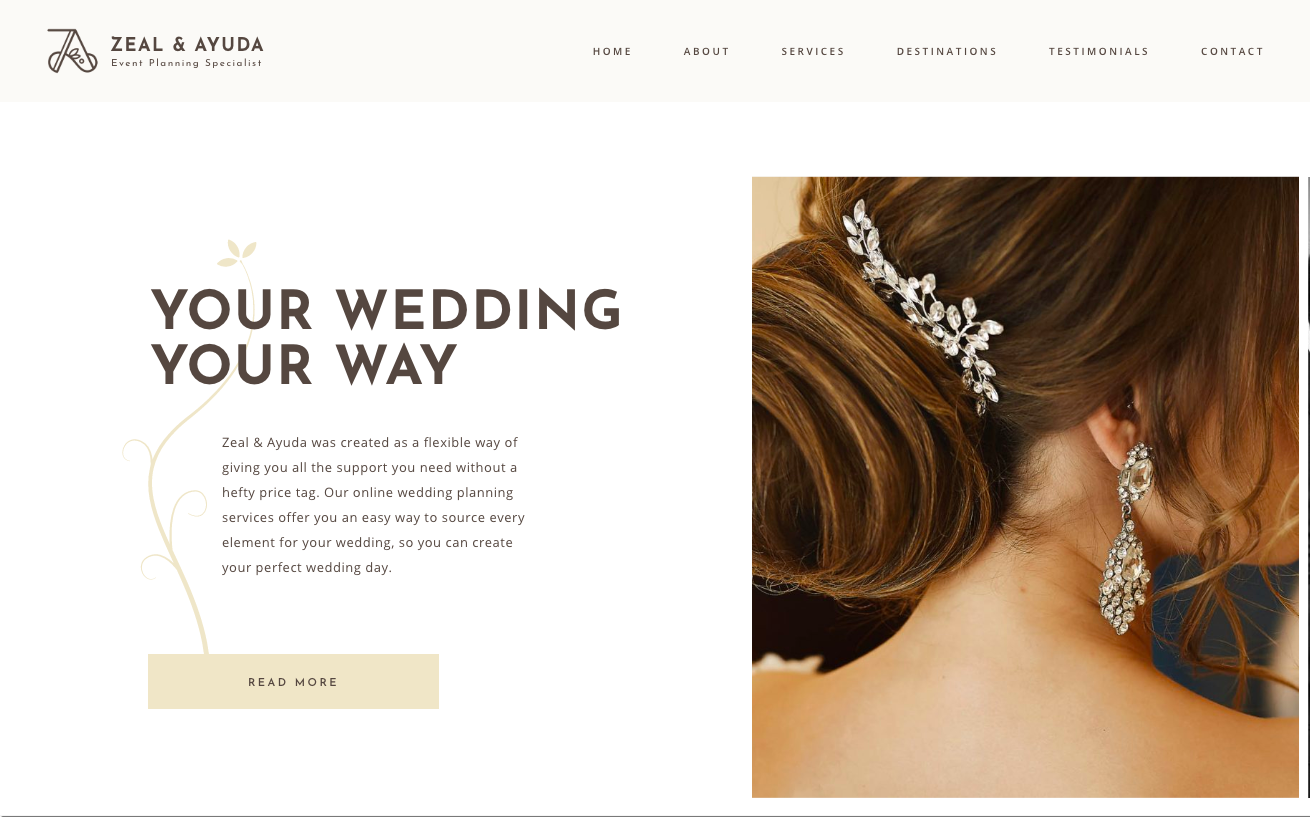 Zeal&Ayuda - Wedding planner web application