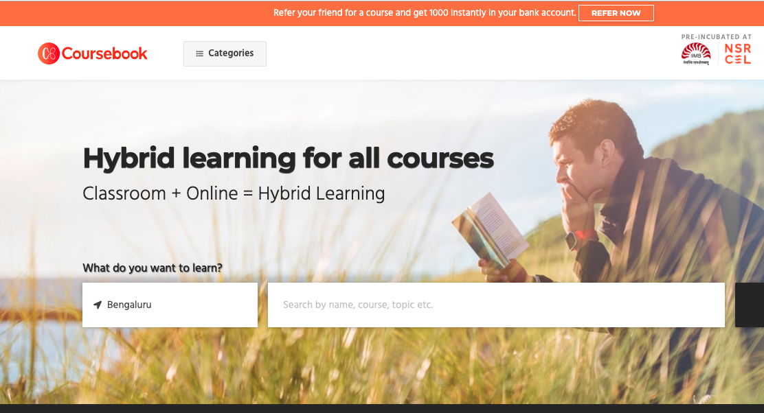 Coursebook - Aggregator for courses & SAAS Platform for educational institutions