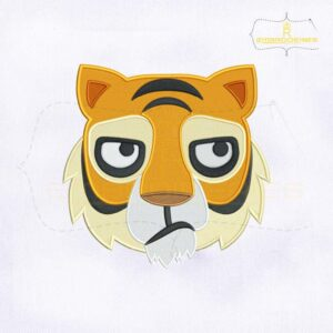 Tiger Face Emoji Embroidery Design