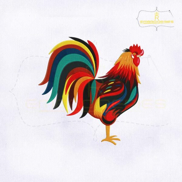 Animal Rooster Embroidery Design