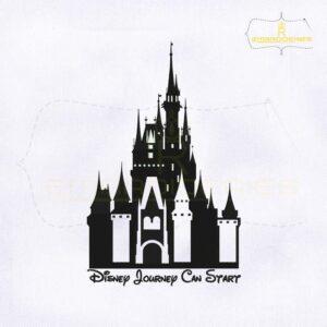 Cinderella Castle Embroidery Design