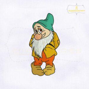 Snow White Bashful Dwarf Embroidery Design