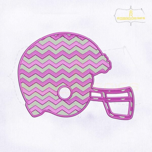 Purple Chevron Helmet Embroidery Design