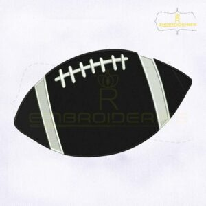 Black USA Football Embroidery Design