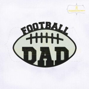 Black USA Football Dad Embroidery Design