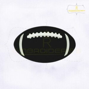 Silhouette American Football Machine Embroidery Design