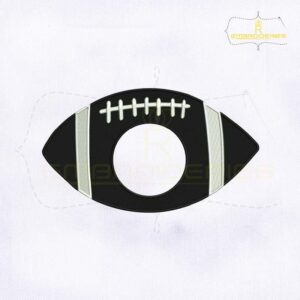 USA Silhouette Football Monogram Machine Embroidery Design