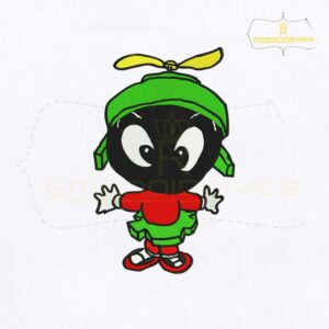 Looney Tunes Baby Marvin Martian Embroidery Design